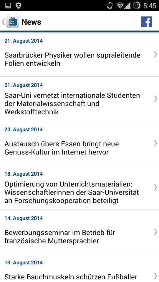 Saar Uni App - Lehrstuhl für Softwaretechnik (Prof  Zeller